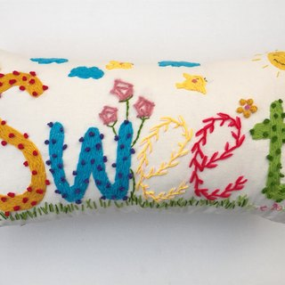 name pillow creative gift - an original design custom handmade wool embroidered pillow -5 letters