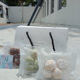 [GJ] possession dessert ---Mother's Day gift aggregate snowball fine marble--- [chocolate / green tea Orange / cheese flavor box of 6] into new market