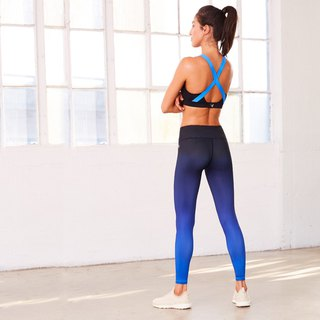 [MACACA] Halo Ning Seamless Cropped Pants - ARE7632 Royal Blue