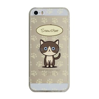 Custom snowshoe cat transparent Samsung S5 S6 S7 note4 note5 iPhone 5 5s 6 6s 6 plus 7 7 plus ASUS HTC m9 Sony LG g4 g5 v10 phone shell mobile phone sets phone shell phonecase