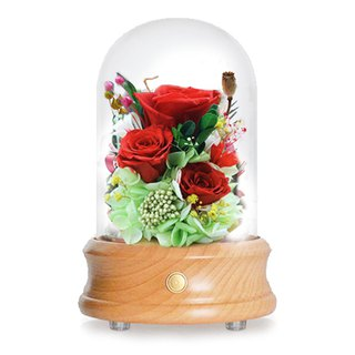 [White Valentine's Day special] eternal flower Bluetooth LED night light speaker Japan imported flower heart flower three flowers