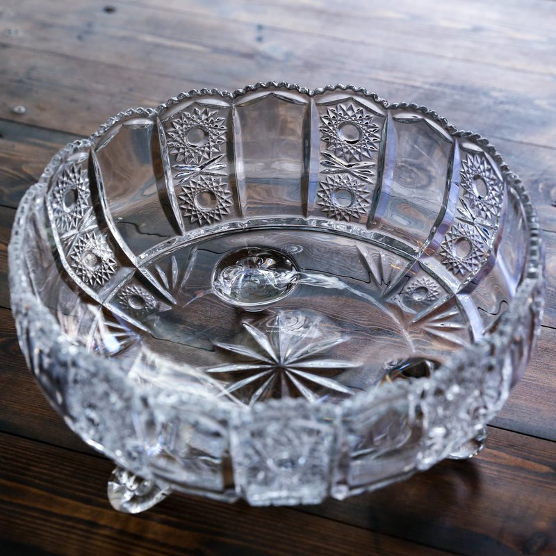 SECLUSION OF SAGE / Retro Glass Candy Bowl