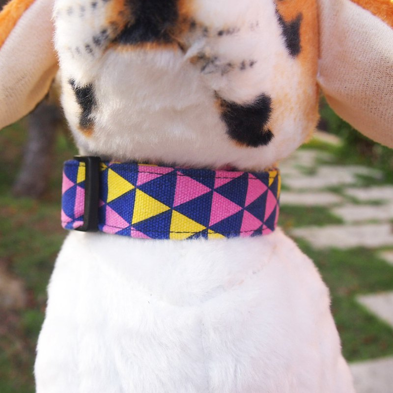 Lingge section - purple yellow dog collar