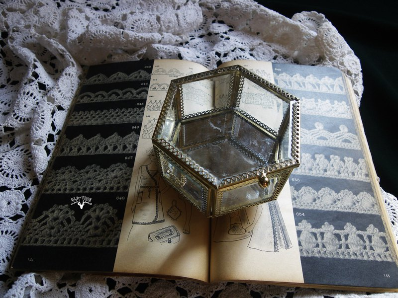 [Old Time OLD-TIME] Early Taiwanese glass jewelry box*limited rachelskng subscript*