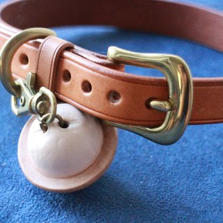 Handmade leather Dog Collars 01 (leather dog collar 16DC01) (excluding leather bell)
