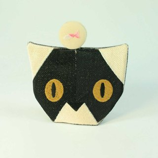 Embroidered key pack 06 - black cat