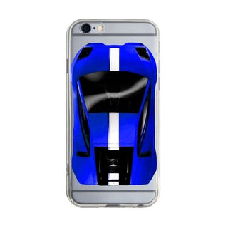 Custom blue sports car transparent Samsung S5 S6 S7 note4 note5 iPhone 5 5s 6 6s 6 plus 7 7 plus ASUS HTC m9 Sony LG g4 g5 v10 phone shell mobile phone sets phone shell phonecase