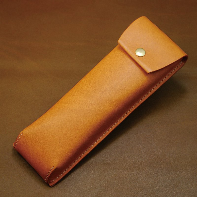 Japanese pen bag leather hand seam (tank)