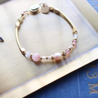 Doris-Pearls brass bracelet