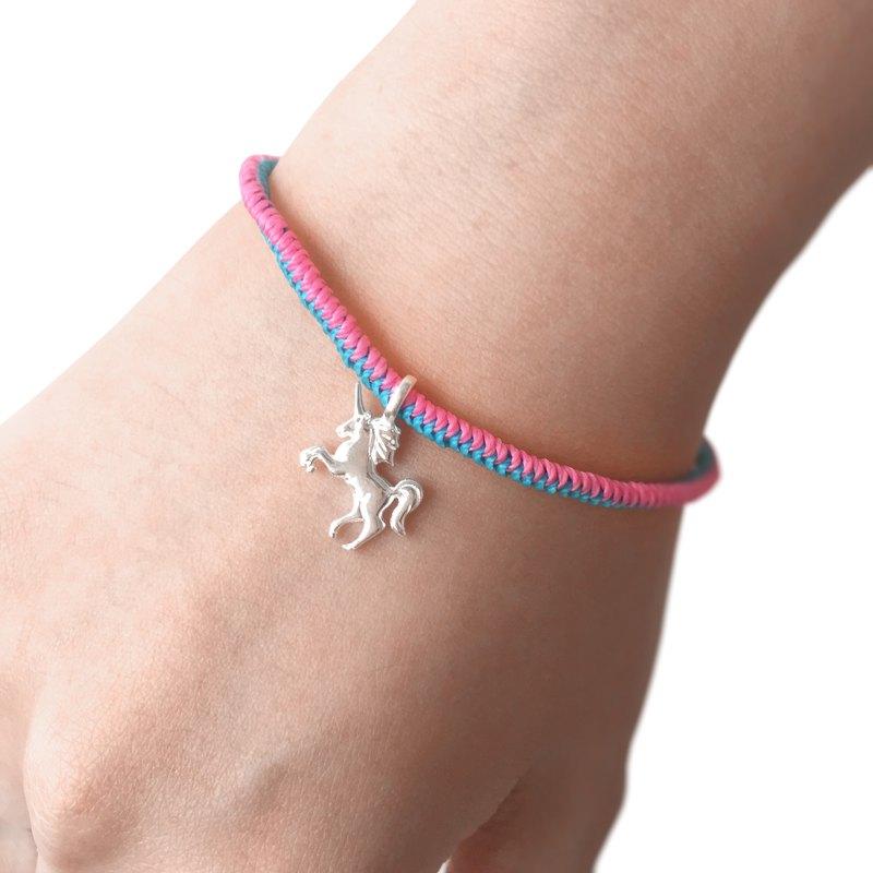Unicorn Bracelet Friendship Silver Gift