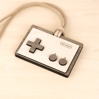 Wooden document folder - horizontal type - retro video game classic red and white electromechanical play leisure card activity with identification card