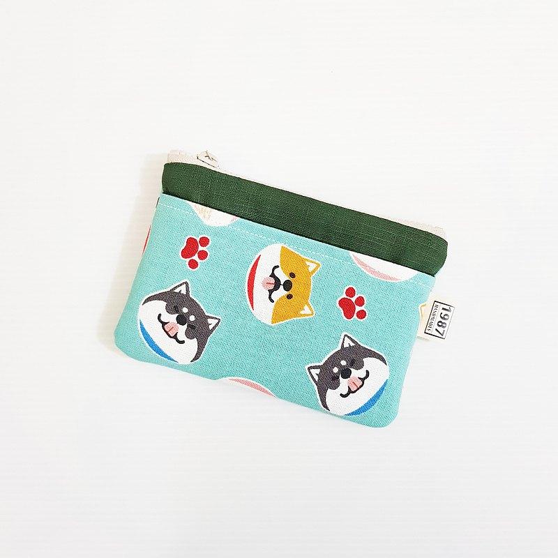 【你柴可愛(綠)-深綠】 犬系!!! 零錢包 手拿包 隨身包 拉鏈袋 聖誕禮物