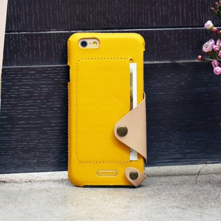 iPhone 6 PLUS /6S PLUS / 5.5 inch Minimalist Series Leather Case - Yellow
