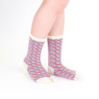 art deco pattern toe socks