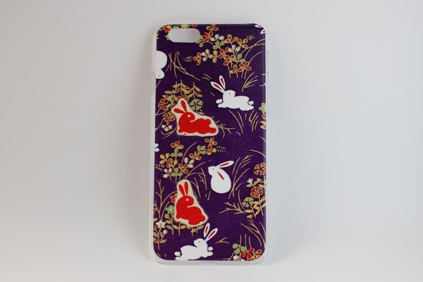 Purple rabbit pattern Washi paper iPhone cover 6s (6) size