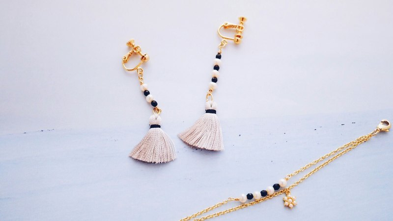 Good - Earrings - Freshwater Pearl Natural Tassels Asymmetric Earrings
