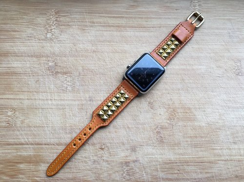 [ISSIS] Apple Watch handmade leather strap - (1)