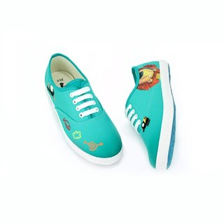 Story shoes color GREEN for ladys, the price includes only the shoes