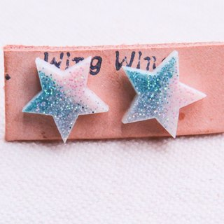 All day are small stars, stainless steel earrings