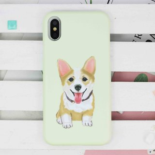 Happy Welsh Corgi Dog  matt finishes phone case for iPhone X 8 8 plus 7 6 S8 S7
