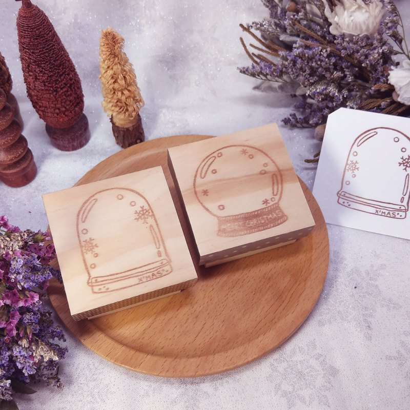 [Additional purchases in December] Christmas glass ball engraved seal rubber stamp Christmas packaging