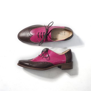 Love Flower Oxford Shoes - Magenta