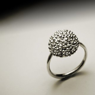 Ball small silver ring