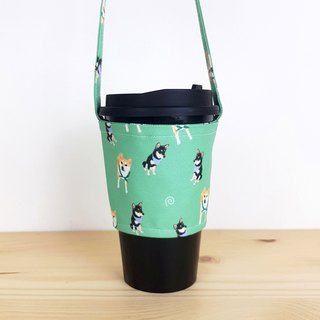 Japanese Shuangchai Green Cup Set/Beverage Bag/Shiba Animal Pet Modeling