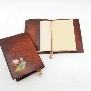6A hand made leather book book book notebook manual PDA plus gift leather bookmark