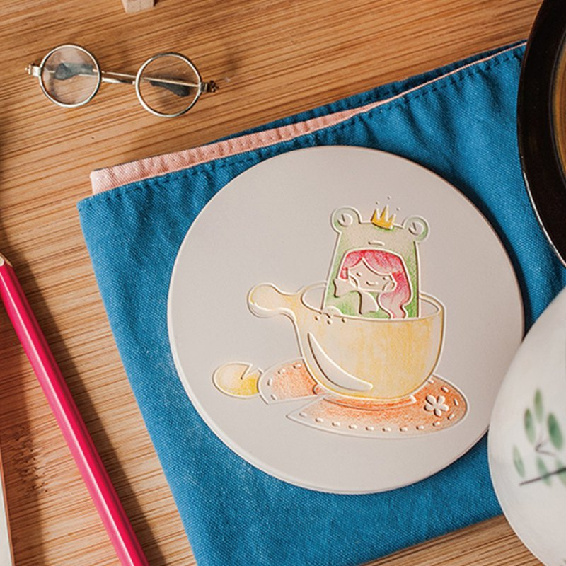 [Ceramic Suction Coaster] Lover Series-Princess Frog