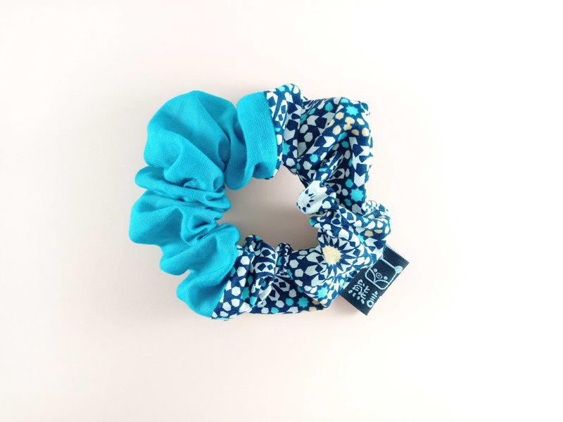 Midi Scrunchie , Cotton, Recycled Ponytail Holder, Cute Eco Friendly Gifts, Hair