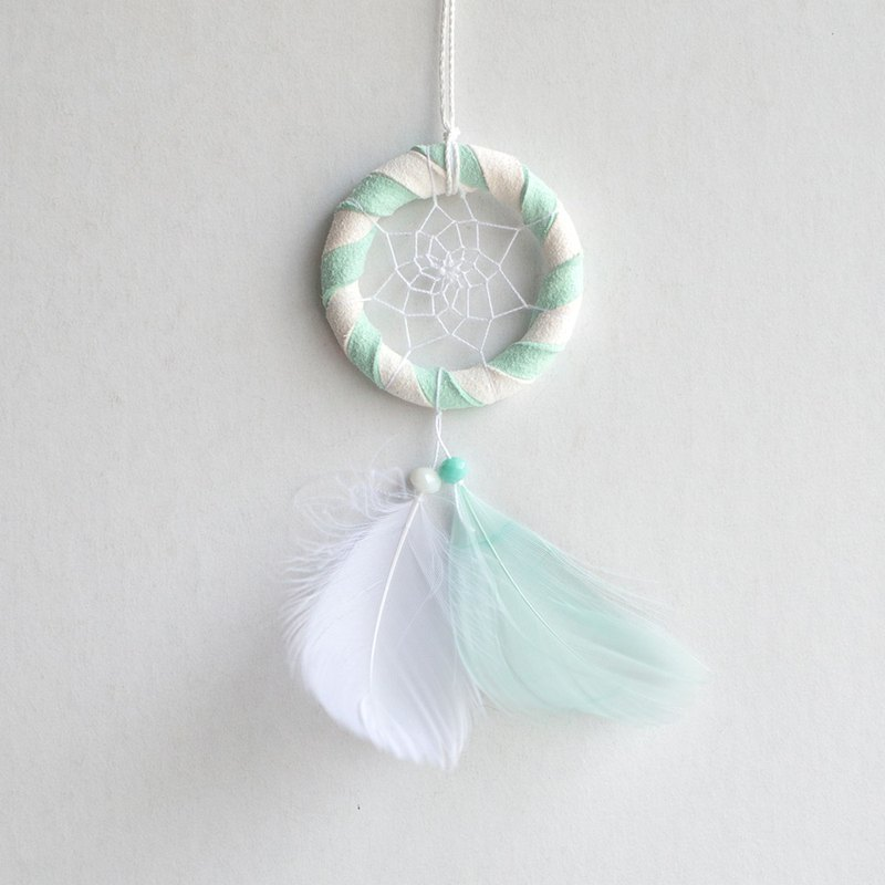 Mini Mint Candy-Two Color (White + Mint Green)-Dream Catcher (5cm)-Valentine's Gift