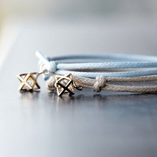 ITS-B810 [Minimal Series, Spring Polaris] 1 star star pendant / wax rope bracelet 1 piece.