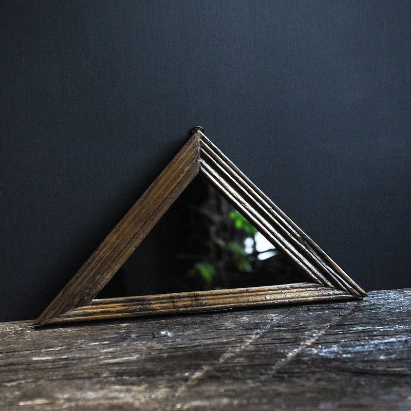 DIAGRAM MIRROR Isosceles Triangle Vintage Geometric Frame/Isosceles Triangle