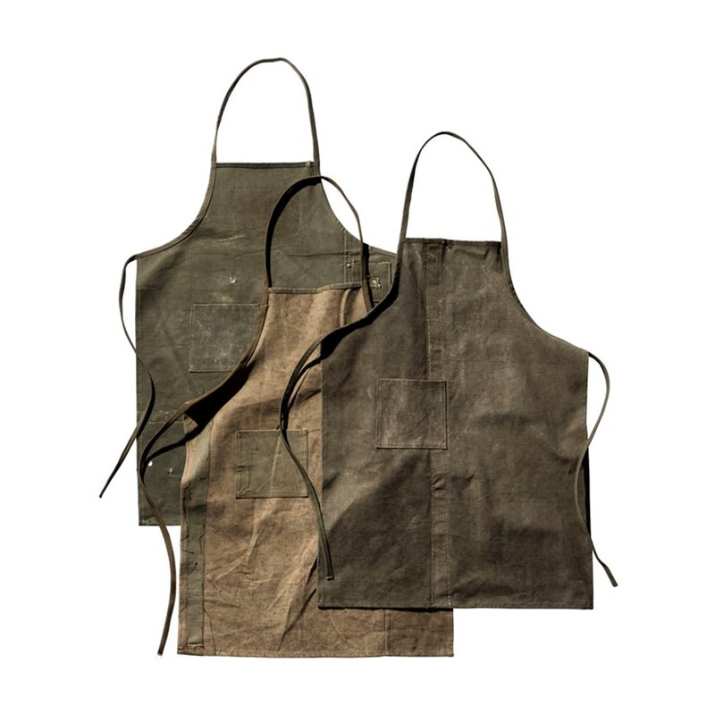 VINTAGE TENT FABRIC APRON Vintage distressed work apron