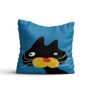 [Animal Graffiti] Black Cat Jiji Pillow