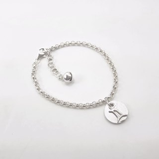 Z26 12 constellations (can be typed) 925 sterling silver bracelet. Customized English alphanumeric.