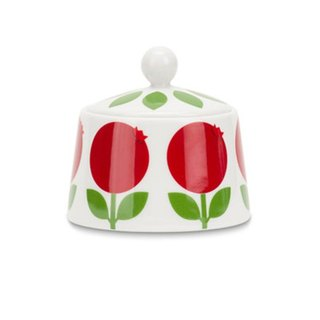 Cute Scandinavian Retro Floryd Bilberry Raspberry Sugar Bowl