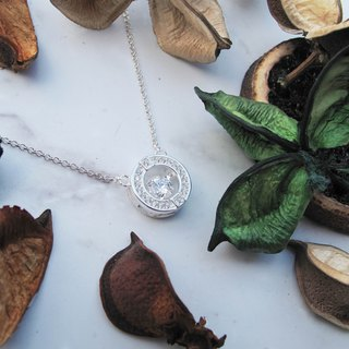 Bigman Taipa [exclusive selection] gorgeous × fashion X round zircon sterling silver necklace