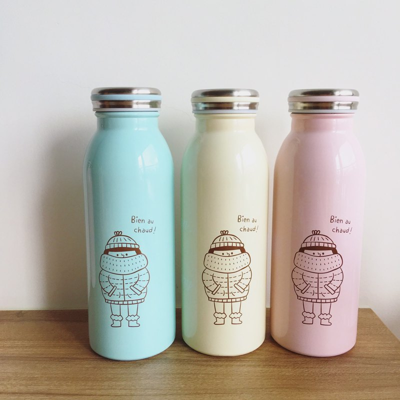 FiFi milk thermos 450ml-a group of three-color (pink, blue, yellow)