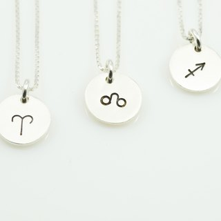 Constellation small tag necklace - fire sign (one)