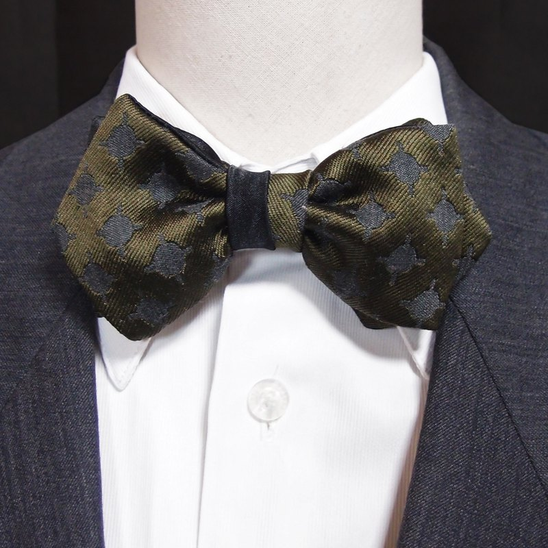 Ink Green Silk Bow Tie Bowtie Double Sided Available