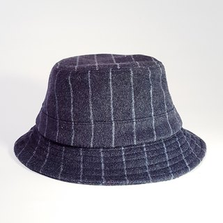 British disc gentleman hat - mysterious midnight blue (grey line) #毛料#限量#秋冬#礼物# keep warm