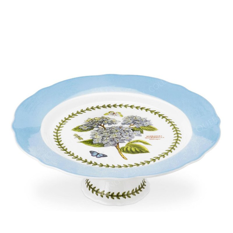 Botanic Garden Terrace Scalloped Edge Large Footed Cake Plate