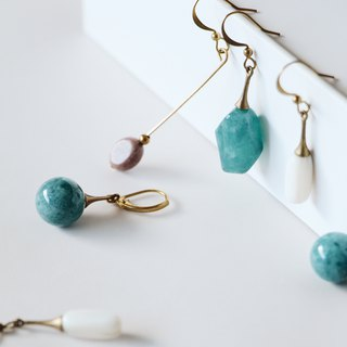Febbi crystal natural stone earrings