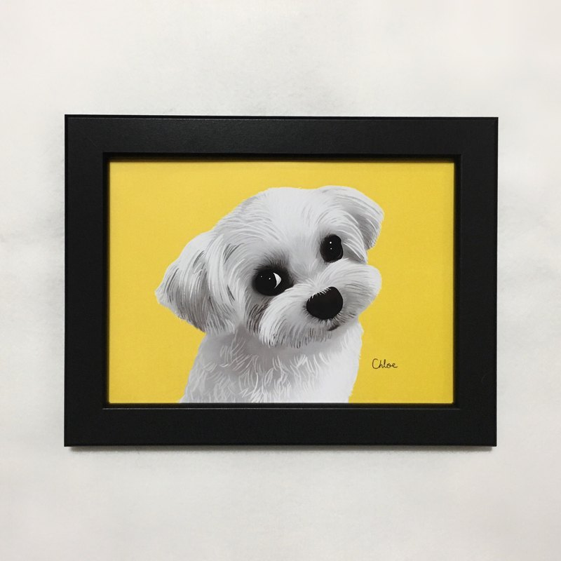 Customized pet half-length portrait / like painting