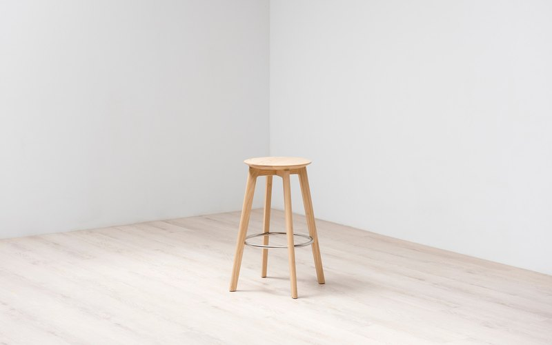 [spot] L21 high stool 70cm / 梣木本色油装