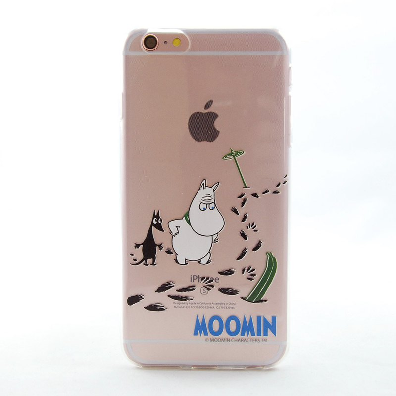 Moomin 噜噜米 授权 - [Nasty footprints] - TPU phone case - AE89