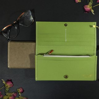 Washable kraft paper long wallet    Apple Green , Army Green