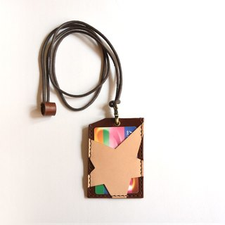 Fading Mist Leather Star ID Card Holder